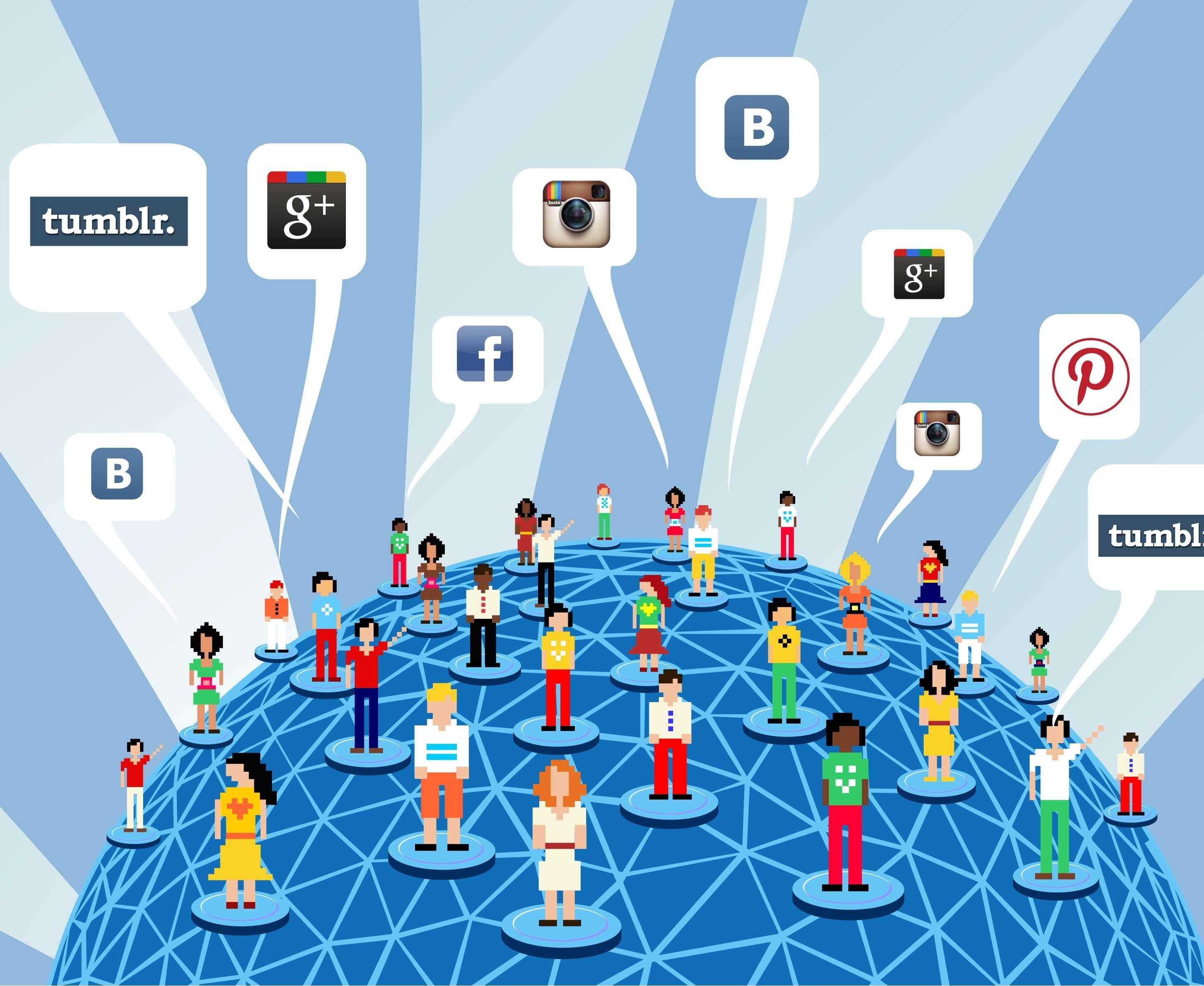 Мы социальных сетях